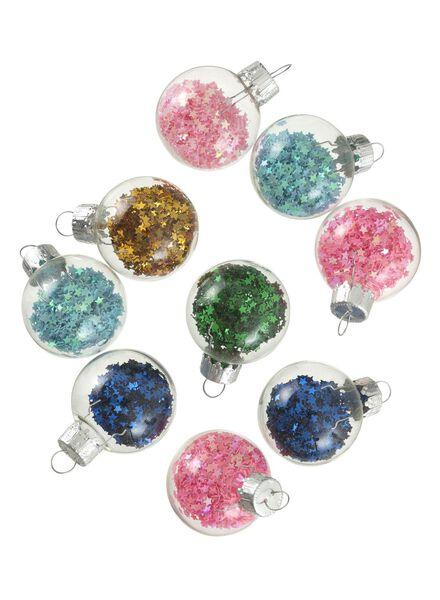 9-pak glazen kerstballen - 25100853 - HEMA