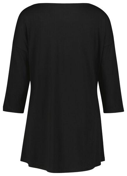 dames nachtshirt viscose zwart XL - 23421854 - HEMA