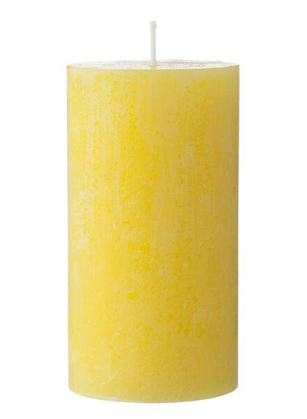 rustieke kaars 7 x 13 cm geel 7 x 13 - 13500733 - HEMA