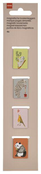magnetische boekenleggers - 4 stuks - 14430050 - HEMA