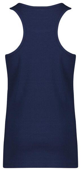 kinder singlet rib - 2 stuks donkerblauw donkerblauw - 1000023692 - HEMA