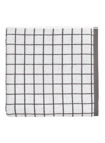 handdoek - 70 x 140 - zware kwaliteit - wit ruit - 5210039 - HEMA
