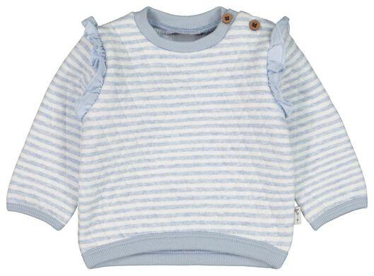 babysweater strepen padded lichtblauw 68 - 33007882 - HEMA