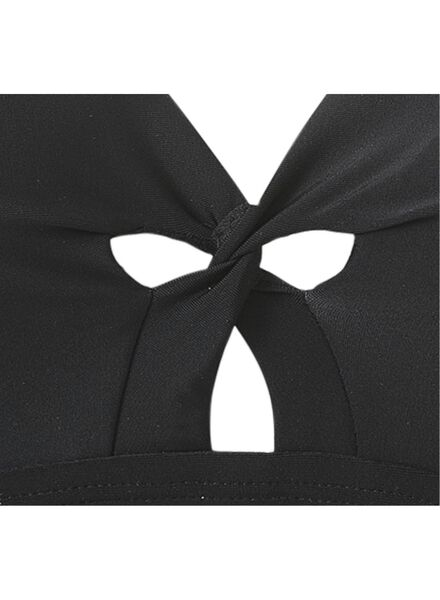 dames badpak medium control recycled zwart zwart - 1000017927 - HEMA