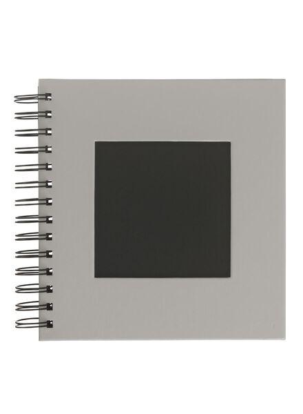 Fotoalbum met venster 19x18 grijs
