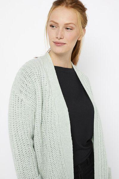 damesvest met wol lichtgroen lichtgroen - 1000021461 - HEMA