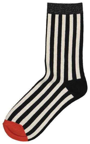 damessokken streep zwart zwart - 1000020903 - HEMA