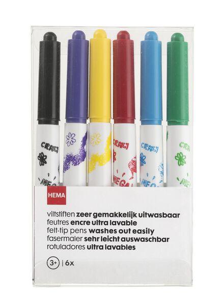 6-pak uitwasbare viltstiften - 15900014 - HEMA