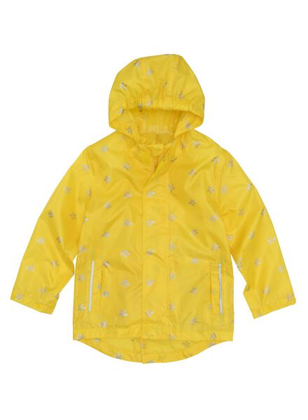 opvouwbare kinderregenjas geel geel - 1000006278 - HEMA