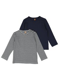 75652ee81db 2-pak baby t-shirts met bamboe donkerblauw