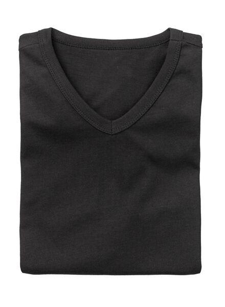 2-pak heren t-shirts regular-fit zwart zwart - 1000005970 - HEMA