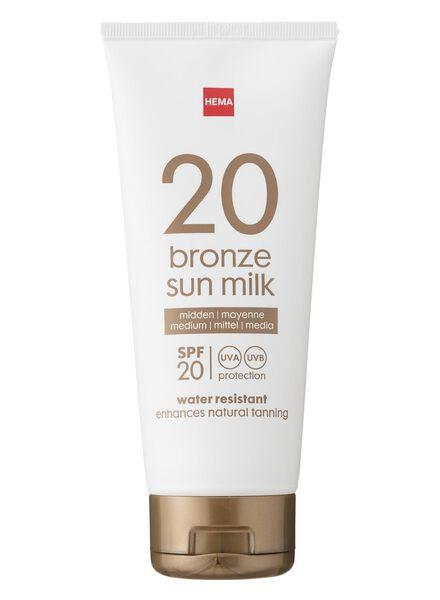 bronzing zonnemelk SPF 20 - 11610128 - HEMA