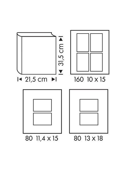 fotoalbum met venster 31.5x21.5 grijs - 14633320 - HEMA