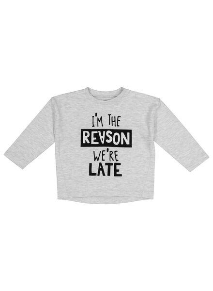 baby t-shirt grijsmelange grijsmelange - 1000017507 - HEMA