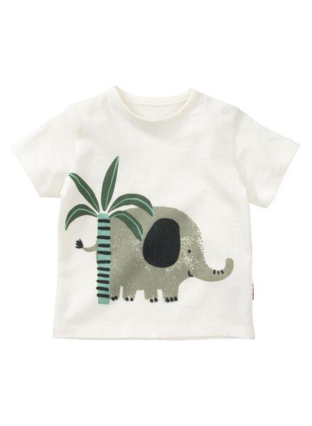 newborn baby t-shirt gebroken wit gebroken wit - 1000013441 - HEMA