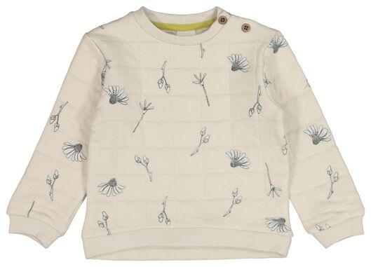 babysweater gevoerd bloemen zand zand - 1000021388 - HEMA