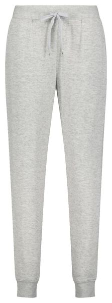 dames pyjamabroek sweat grijsmelange M - 23400782 - HEMA