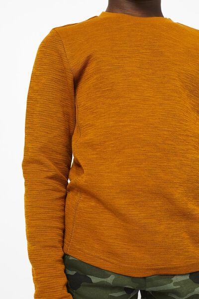 kinder t-shirt structuur mosterdgeel 110/116 - 30796229 - HEMA