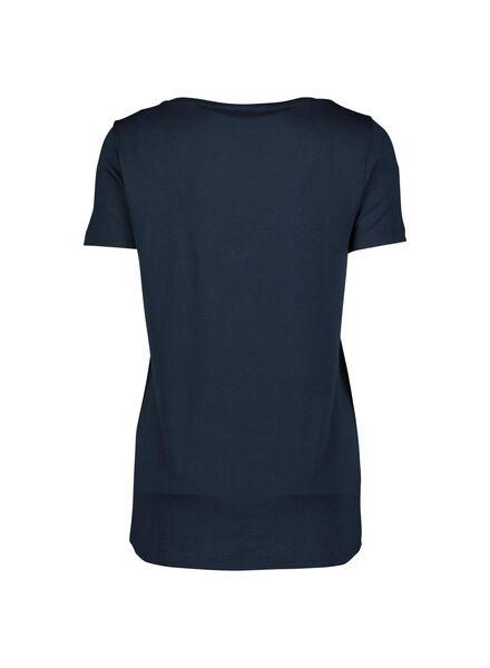 dames t-shirt donkerblauw donkerblauw - 1000013718 - HEMA