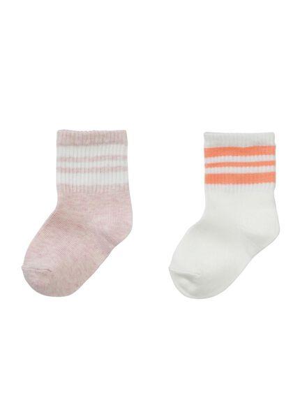 2-pak babysokken roze roze - 1000002208 - HEMA