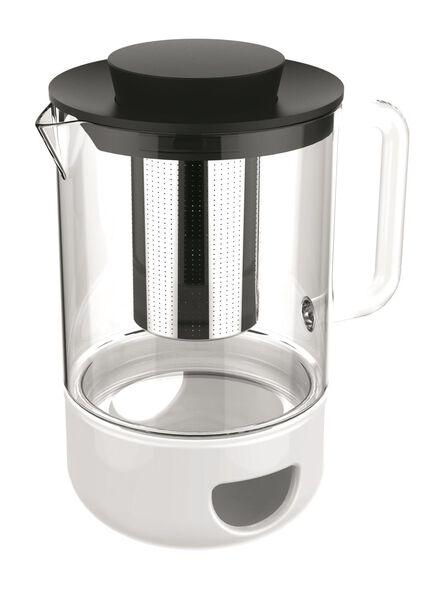 theepot met filter - 1 L - glas - 80630325 - HEMA