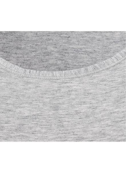 dameshemd real lasting cotton grijsmelange grijsmelange - 1000001959 - HEMA