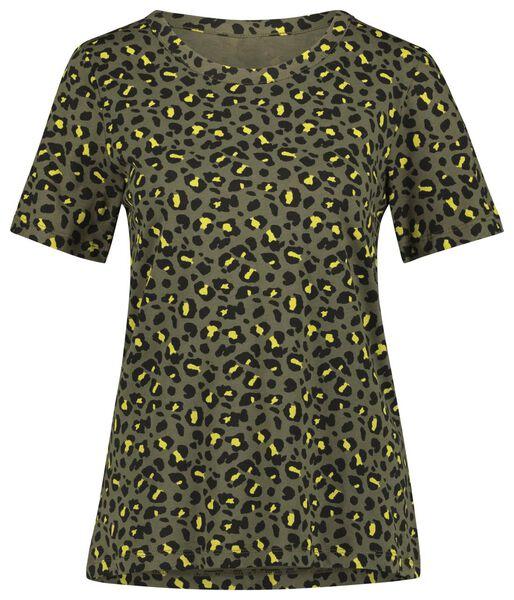 dames t-shirt olijf olijf - 1000021308 - HEMA
