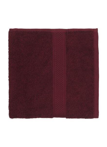 handdoek - 50 x 100 cm - zware kwaliteit - bordeaux donkerrood handdoek 50 x 100 - 5220004 - HEMA