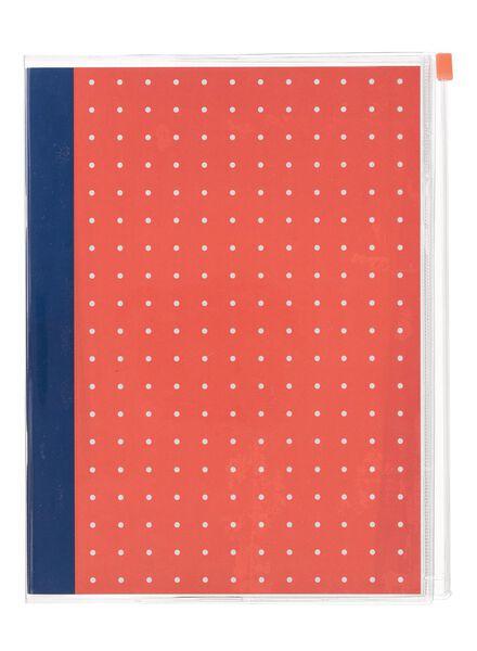 ziplock notitieboek A5 gelinieerd - 14101361 - HEMA