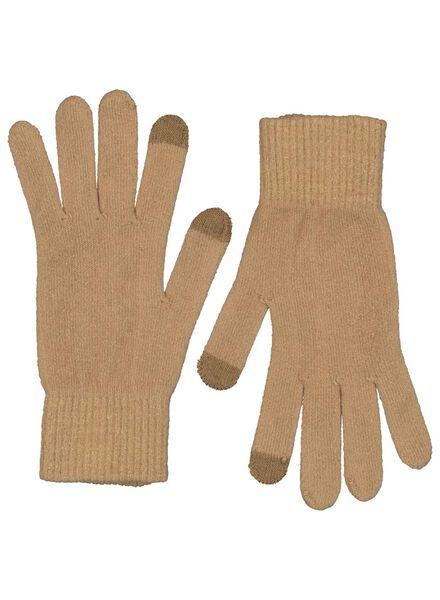 dameshandschoenen touchscreen camel camel - 1000015533 - HEMA