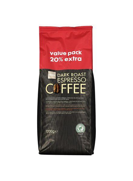 koffiebonen dark roast espresso - 1.2 kg - 17110026 - HEMA