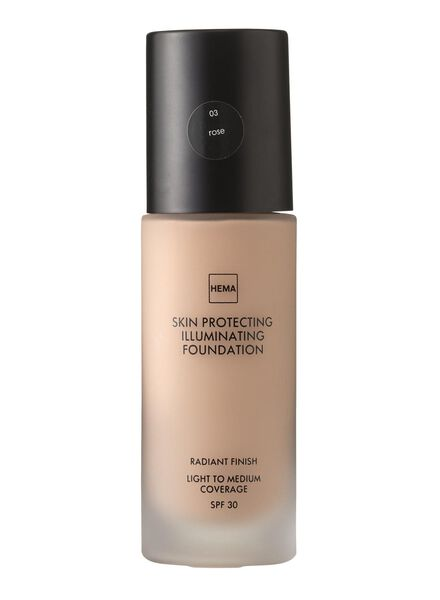 skin protecting illuminating foundation Rose 03 - 11291203 - HEMA