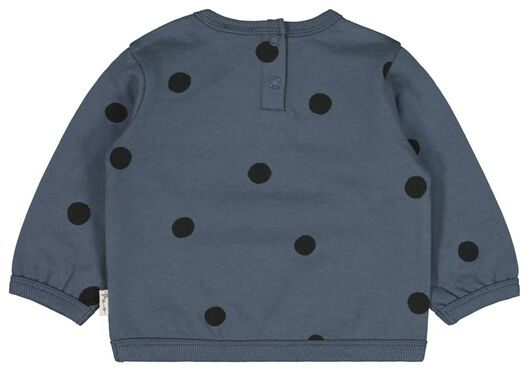 babysweater lucky me blauw blauw - 1000022186 - HEMA