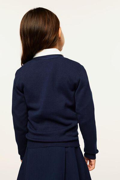 kindervest gebreid donkerblauw donkerblauw - 1000022471 - HEMA