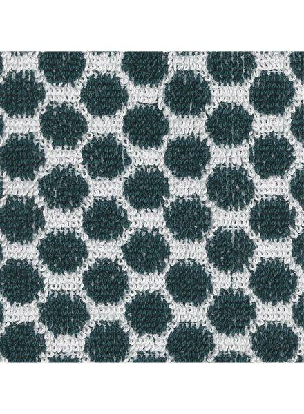 gastendoek - 30 x 55 - zware kwaliteit - groen stip - 5210029 - HEMA