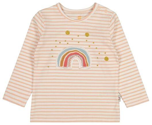 baby t-shirt zalmroze 62 - 33078201 - HEMA