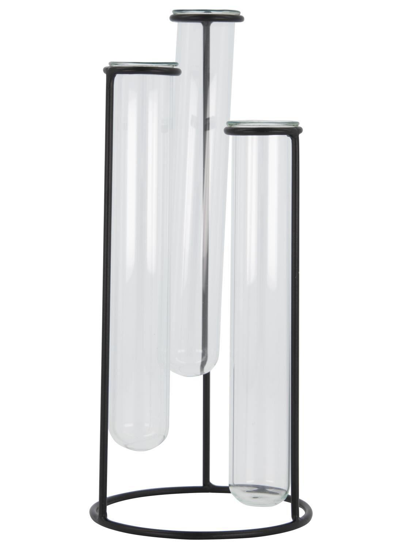 HEMA Standaard Met 3 Vaasjes - 21 X 9 Cm - Zwart (zwart)