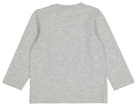 baby t-shirt grijsmelange grijsmelange - 1000020370 - HEMA