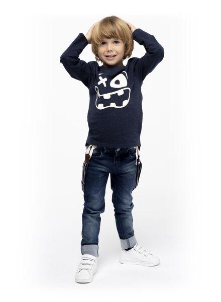 kinder t-shirt donkerblauw donkerblauw - 1000017050 - HEMA