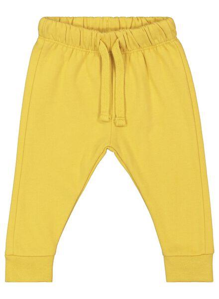 baby sweatbroek geel geel - 1000017339 - HEMA