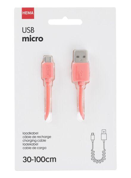 micro-USB laadkabel uitrekbaar - 39610045 - HEMA