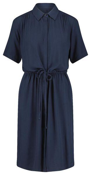 damesjurk blauw blauw - 1000021213 - HEMA