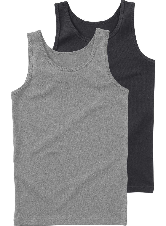 HEMA 2-pak Kinderhemden Grijsmelange (grijsmelange)