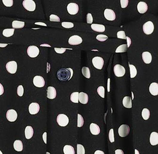 dames overhemdjurk zwart zwart - 1000018290 - HEMA