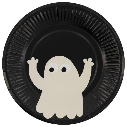 gebaksbordjes Ø17.5cm karton Halloween - 8 stuks - 25200766 - HEMA