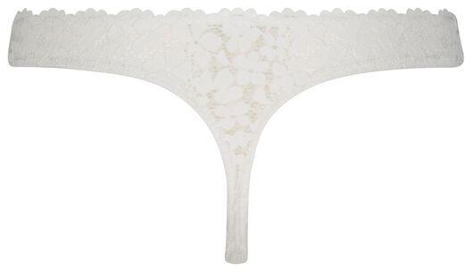 B.A.E. dames string kant bloemen wit wit - 1000023399 - HEMA