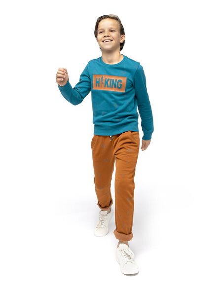 kindersweater middenblauw middenblauw - 1000016729 - HEMA