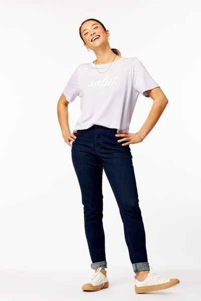 dames t-shirt salut lila lila - 1000023716 - HEMA
