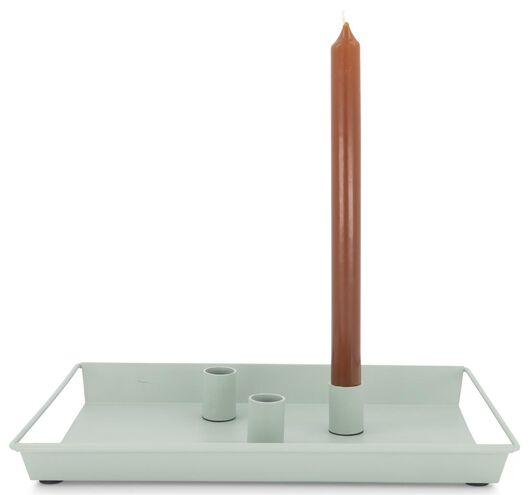 kaarsplateau - 22 x 31.5 x 3 cm - lichtgroen - 13392001 - HEMA