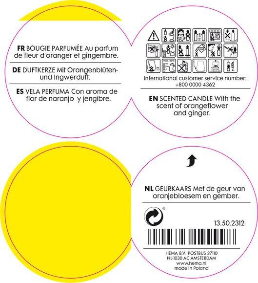 geurkaars in glas spice - 13502312 - HEMA